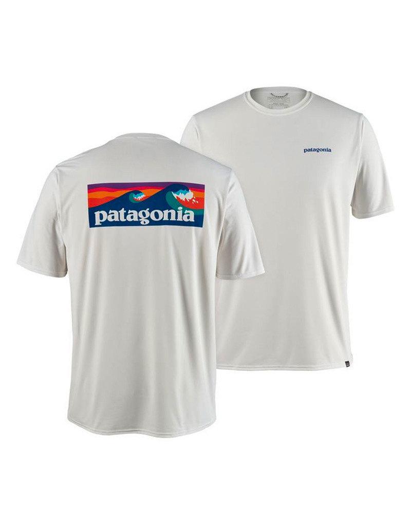 Patagonia M's Cap Cool Daily Graphic Shirt logo white