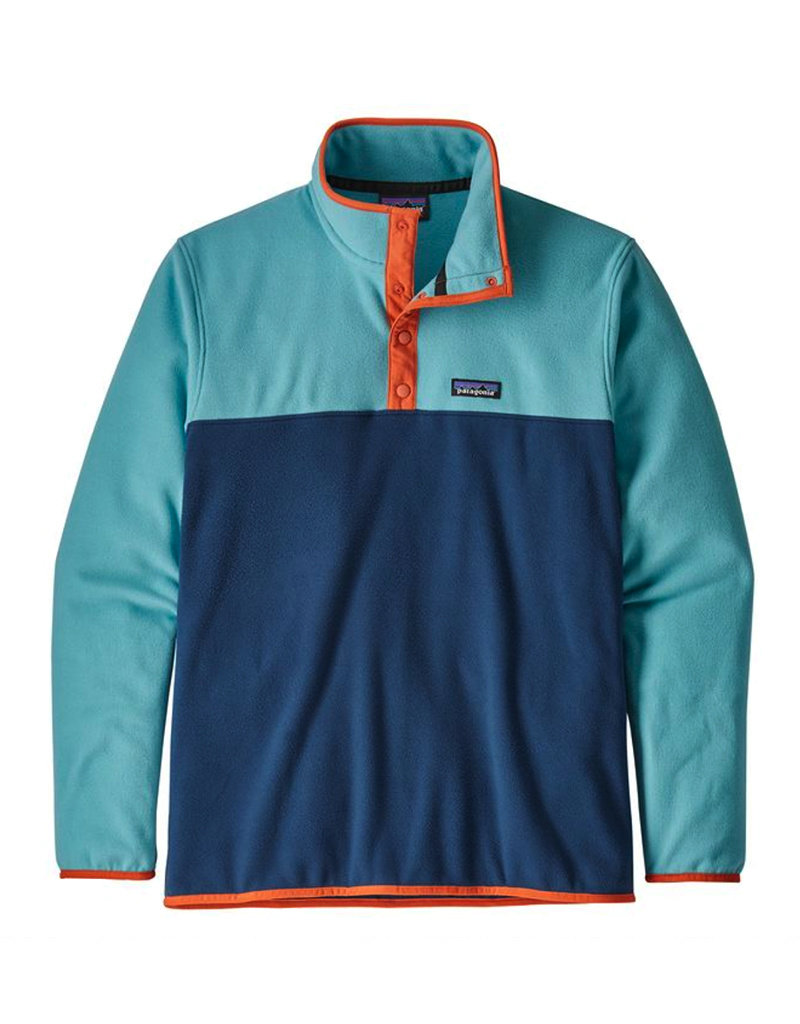 Patagonia M's Micro D Snap-T P/O Stone blue w/Dam Blue