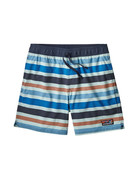 Patagonia M's Stretch Wavefarer Volley Shorts - 16 in. Water Ribbons: Atoll Blue