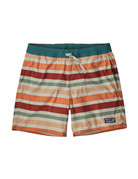 Patagonia M's Stretch Wavefarer Volley Shorts - 16 in. Water Ribbons: New Adobe