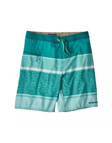 Patagonia M's Wavefarer Boardshorts - 19 in. Batik Hex Stripe: Bend Blue
