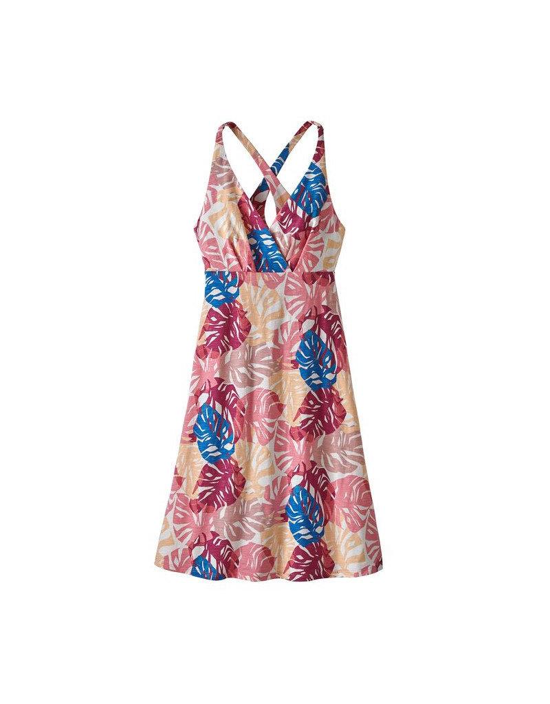 Patagonia W's Amber Dawn Dress Tarkine Fern: Petra Pink