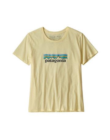 Patagonia W's Pastel P-6 Logo Organic Crew T-Shirt Resin Yellow