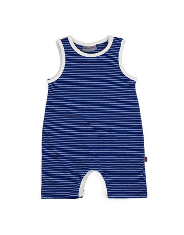 Froy & Dind COMBISHORT WITHOUT SLEEVES STRIPES HIP BLUE JERSEY COTTON 86