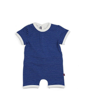 Froy & Dind COMBISHORT BABY STRIPES HIP BLUE JERSEY COTTON