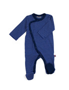 Froy & Dind JUMPSUIT WITH FEET STRIPES HIP BLUE JERSEY COTTON