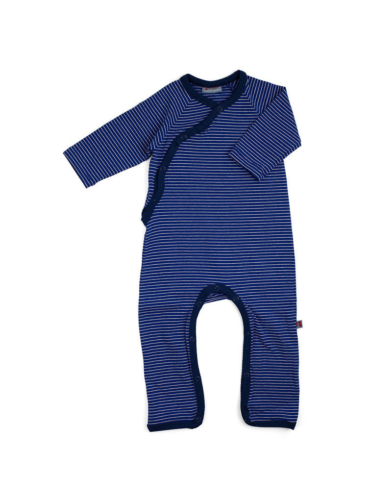 Froy & Dind JUMPSUIT WITHOUT FEET STRIPES HIP BLUE JERSEY COTTON