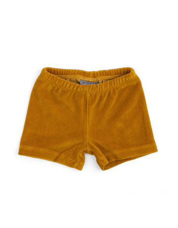 Froy & Dind SHORTS MUSTARD VELOURS
