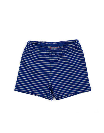 Froy & Dind SHORTS STRIPES HIP BLUE JERSEY COTTON
