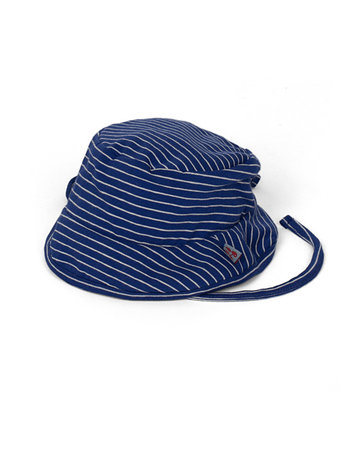 Froy & Dind SUMMER HAT SMALL STRIPES HIP BLUE JERSEY COTTON