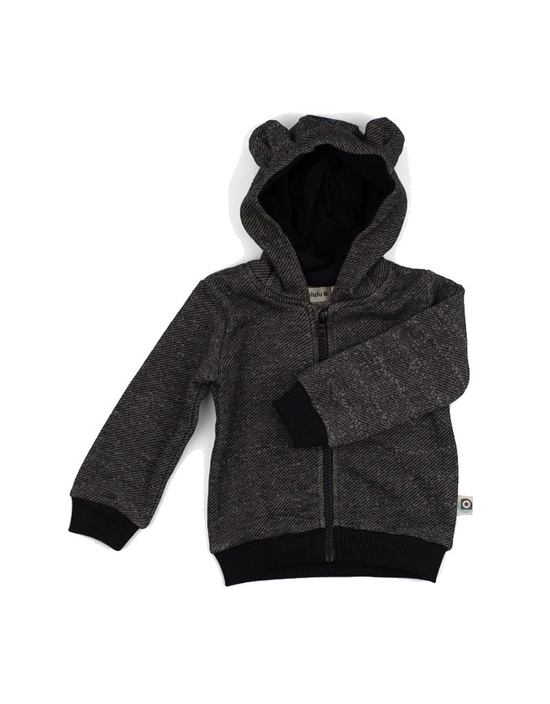 Onnolulu Hoodie Balou Black Slub Sweater