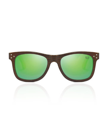 FreshForPandas Panda dark brown/green lens