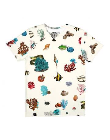 Dedicated Tshirt Coral Reef Off White