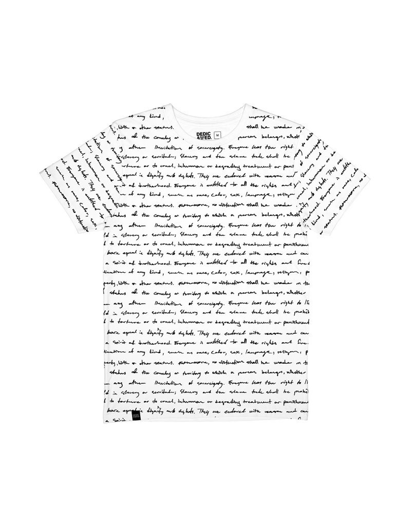 Dedicated Tshirt Human Rights White