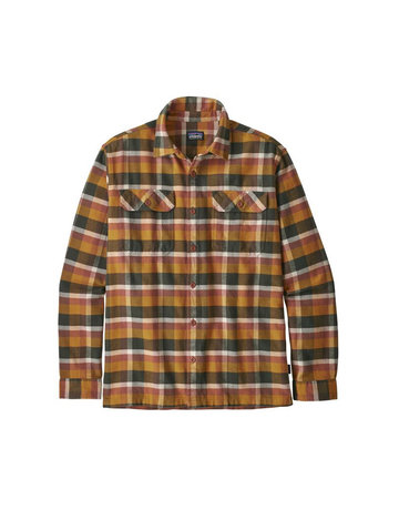 Patagonia M's L/S Fjord Flannel Shirt-Gold