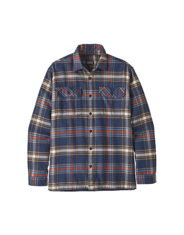 Patagonia M's L/S Fjord Flannel Shirt-Navy