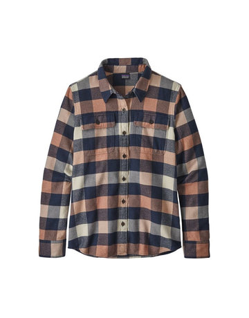 Patagonia W's L/S Fjord Flannel Shirt-Pink