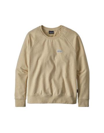 Patagonia W's Pastel P-6 Label Ahnya Crew Sweatshirt-WHT