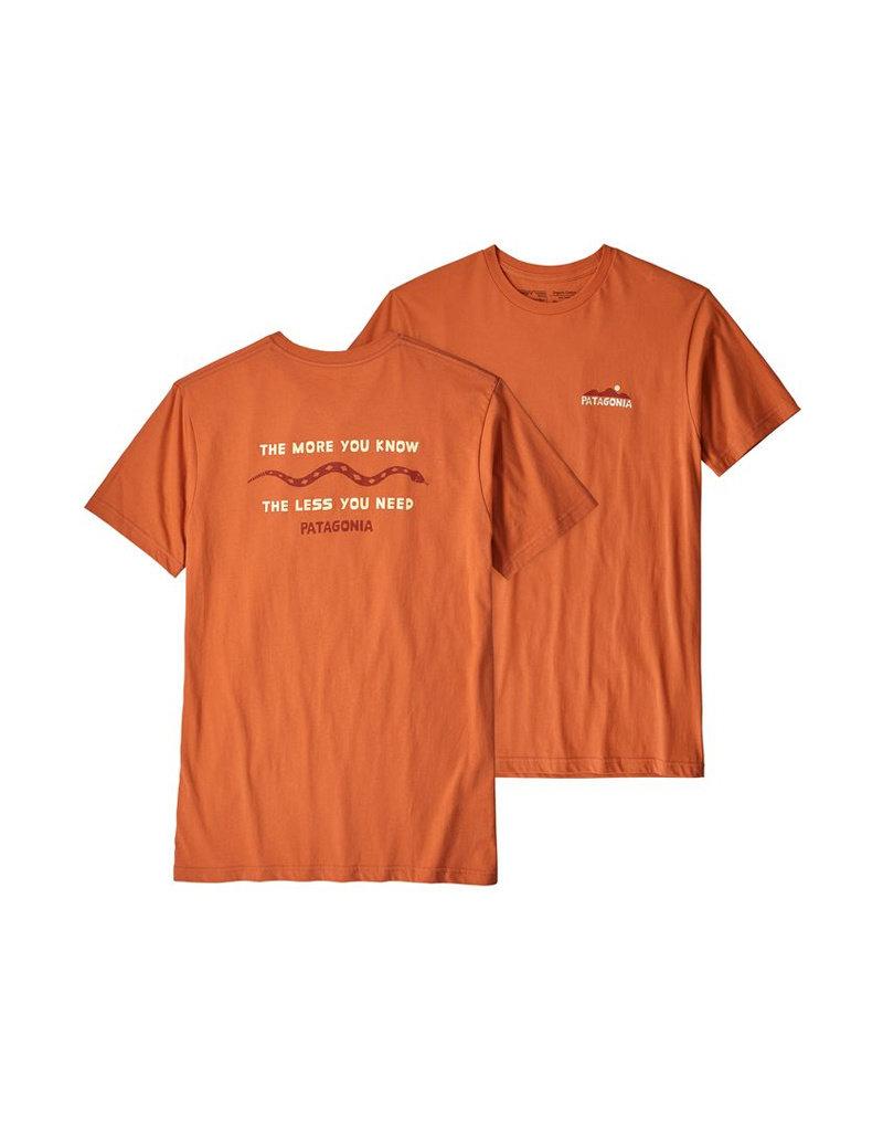 Patagonia M's The Less You Need Organic T-Shirt Sunset orange