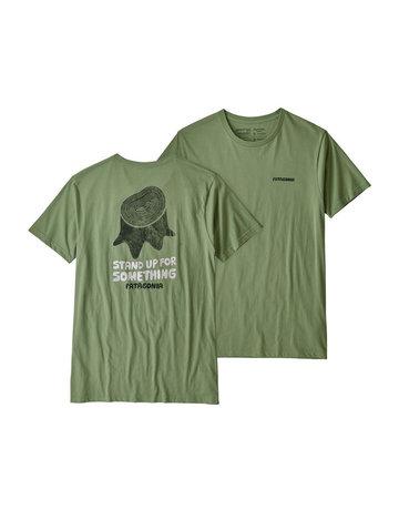 Patagonia M's Stand Up Organic T-Shirt matcha green