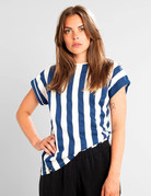 Dedicated T-shirt Visby Big Stripes – Owht