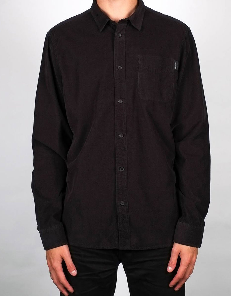 Dedicated Shirt Varberg Corduroy – Black