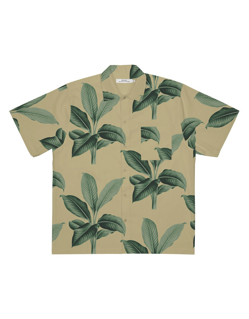 Dedicated Shirt S/S Marstrand Leaves