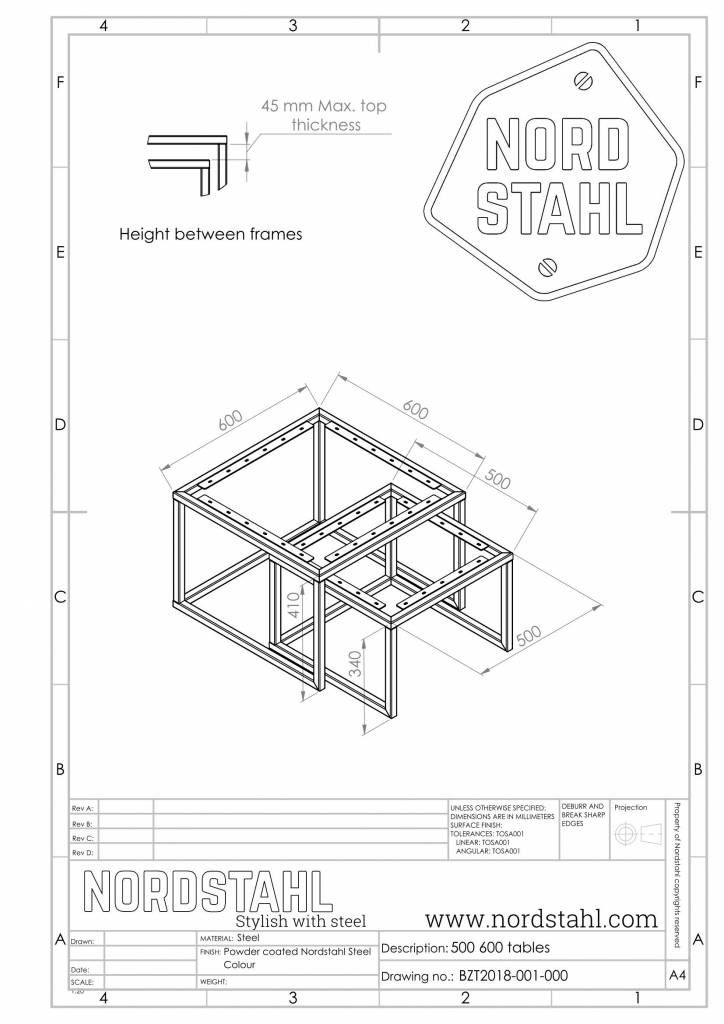 Nordstahl Square frames leg-5