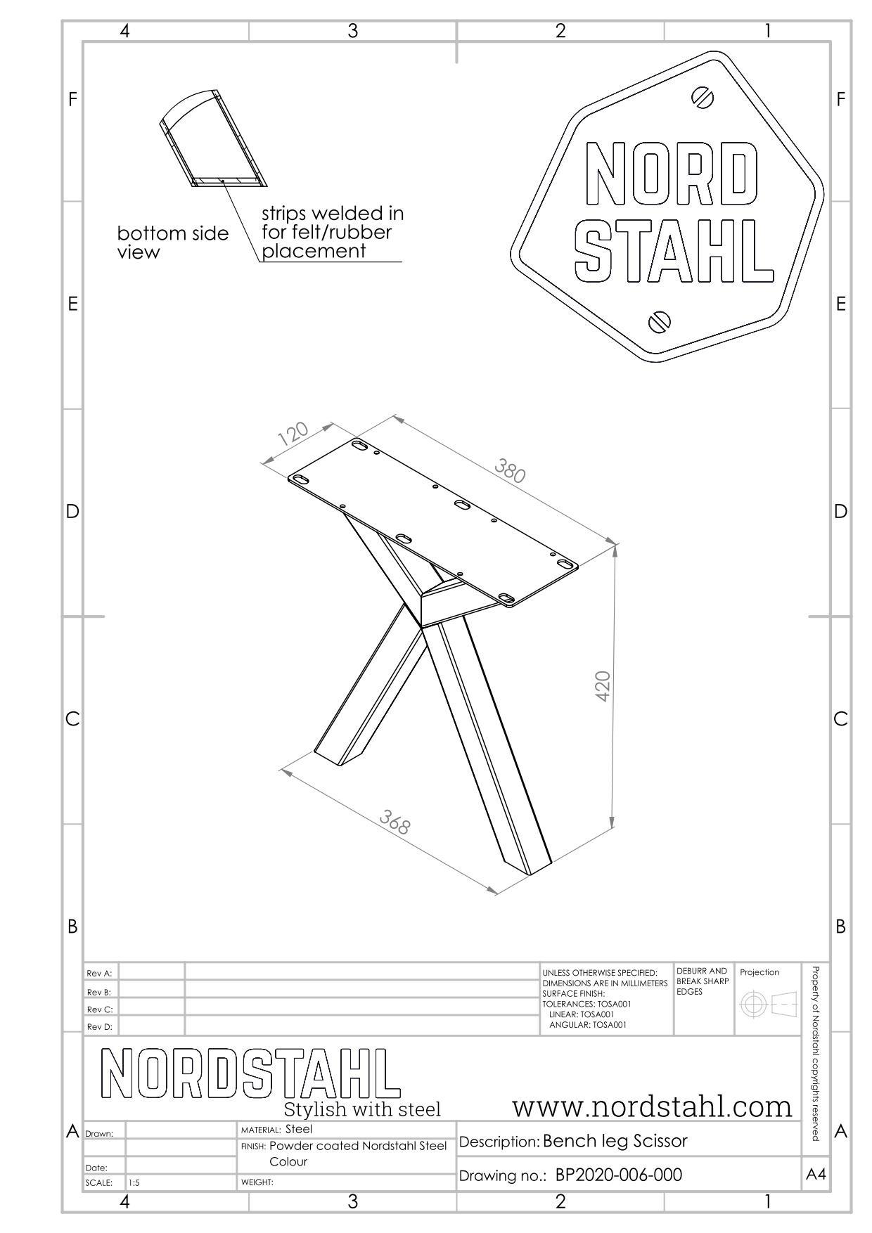 Nordstahl Scissor benchleg-5