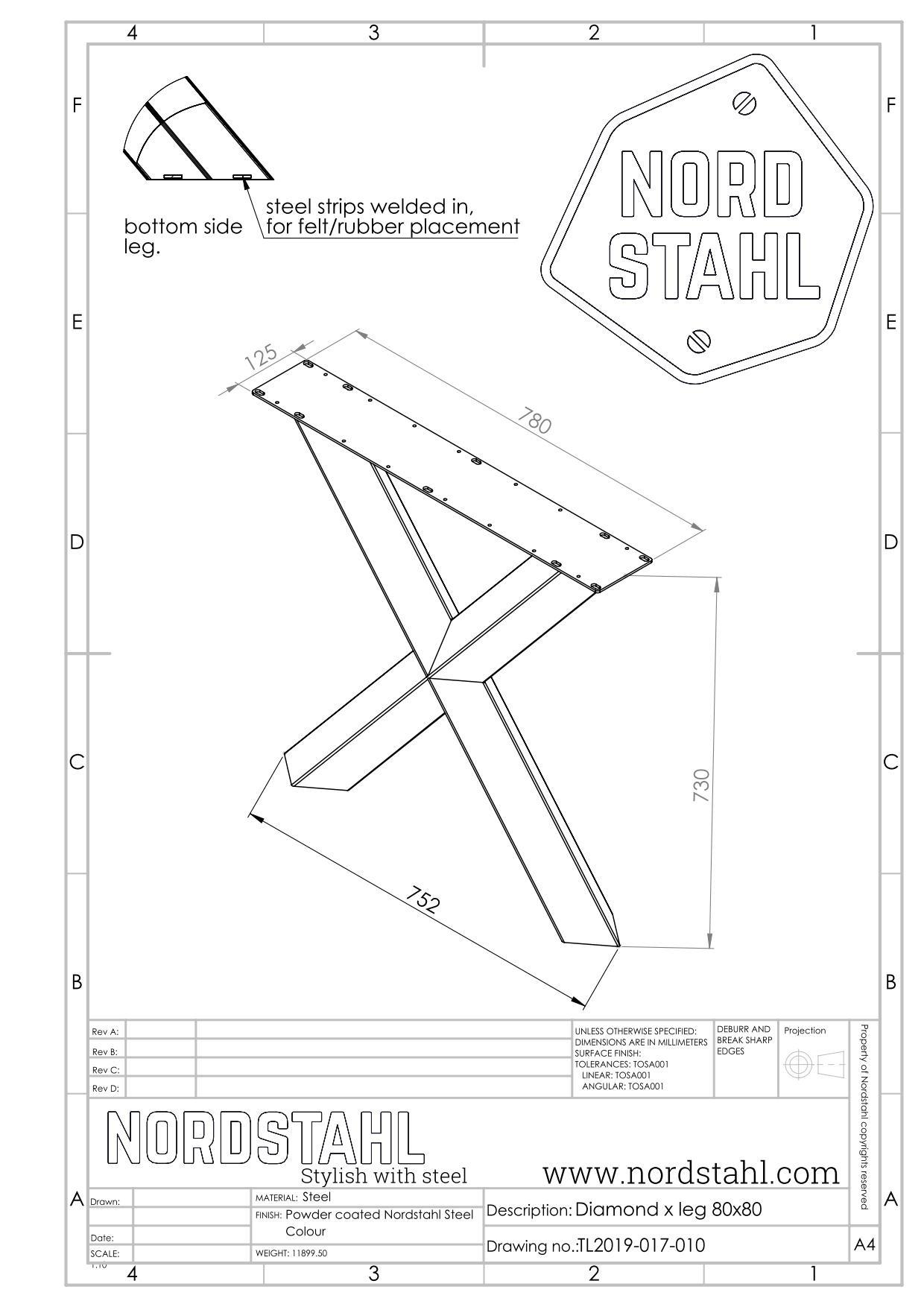 Nordstahl Diamond X leg-5