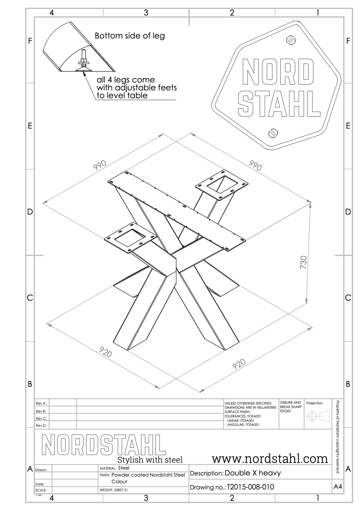Nordstahl Double X leg heavy-5