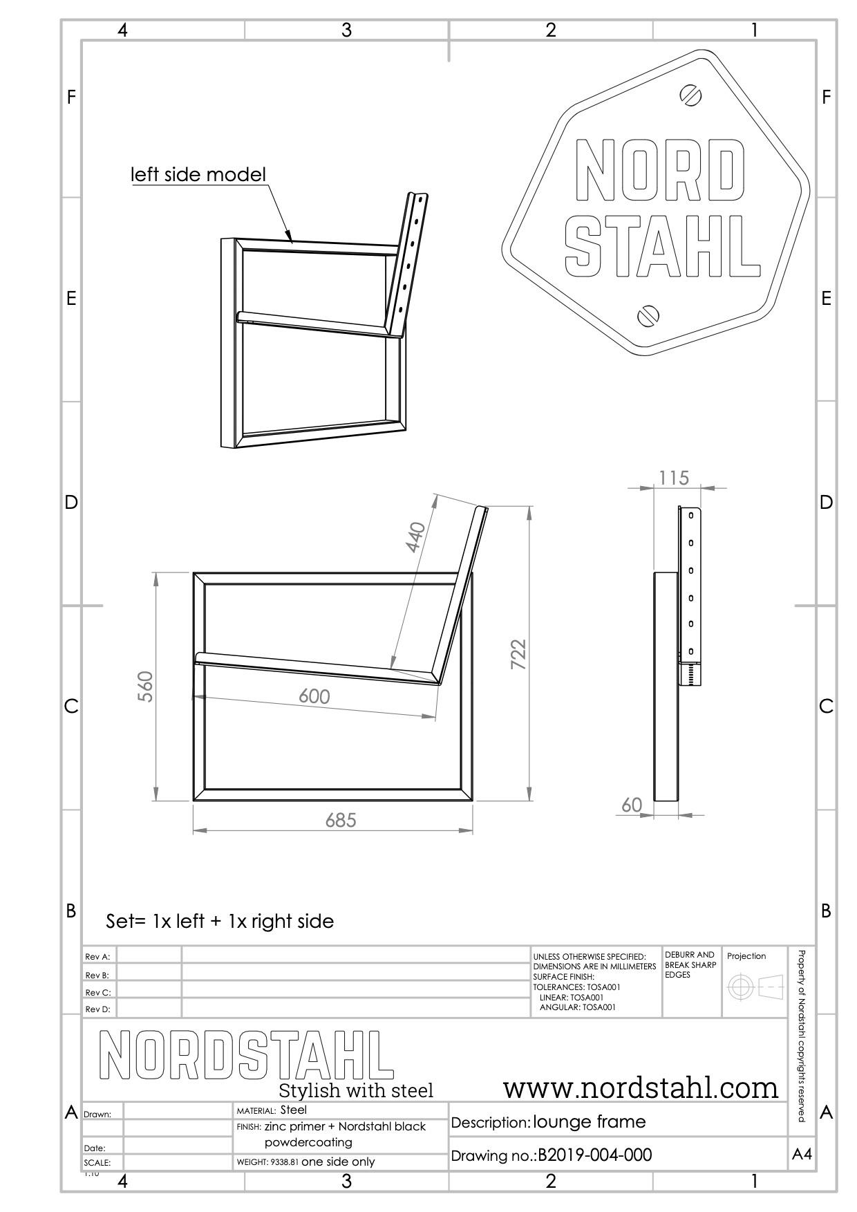 Nordstahl Loungeset frame-4