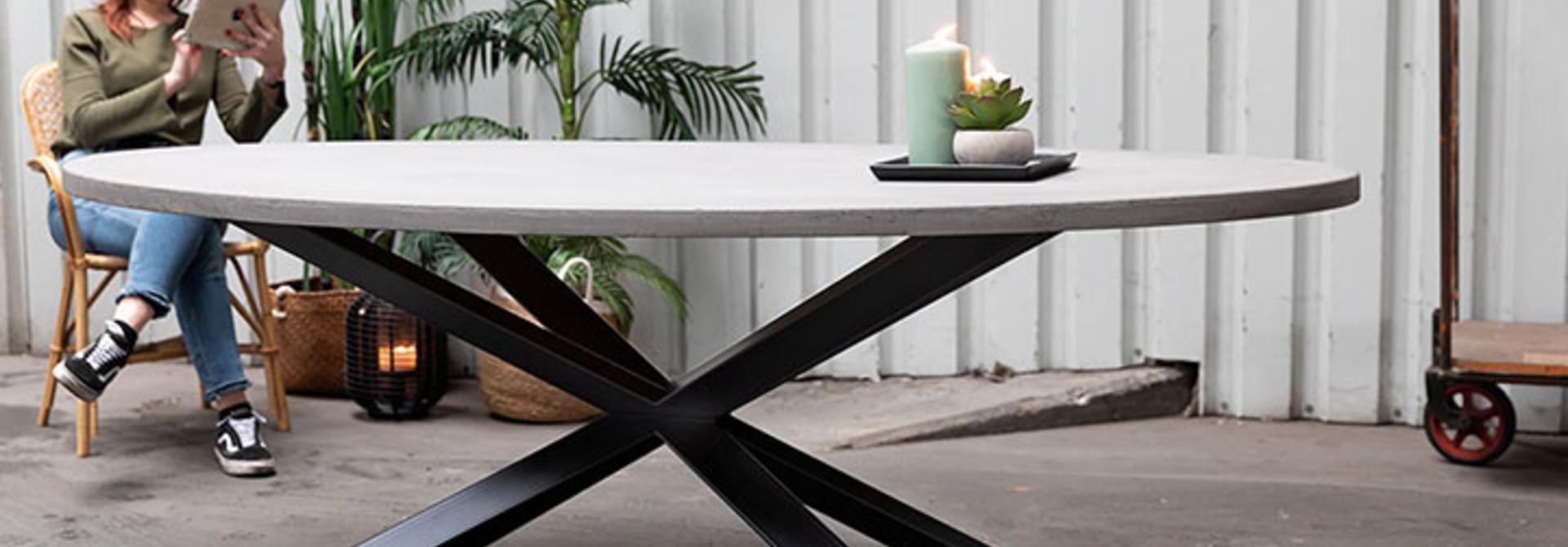 Tafelonderstellen ovale tafels