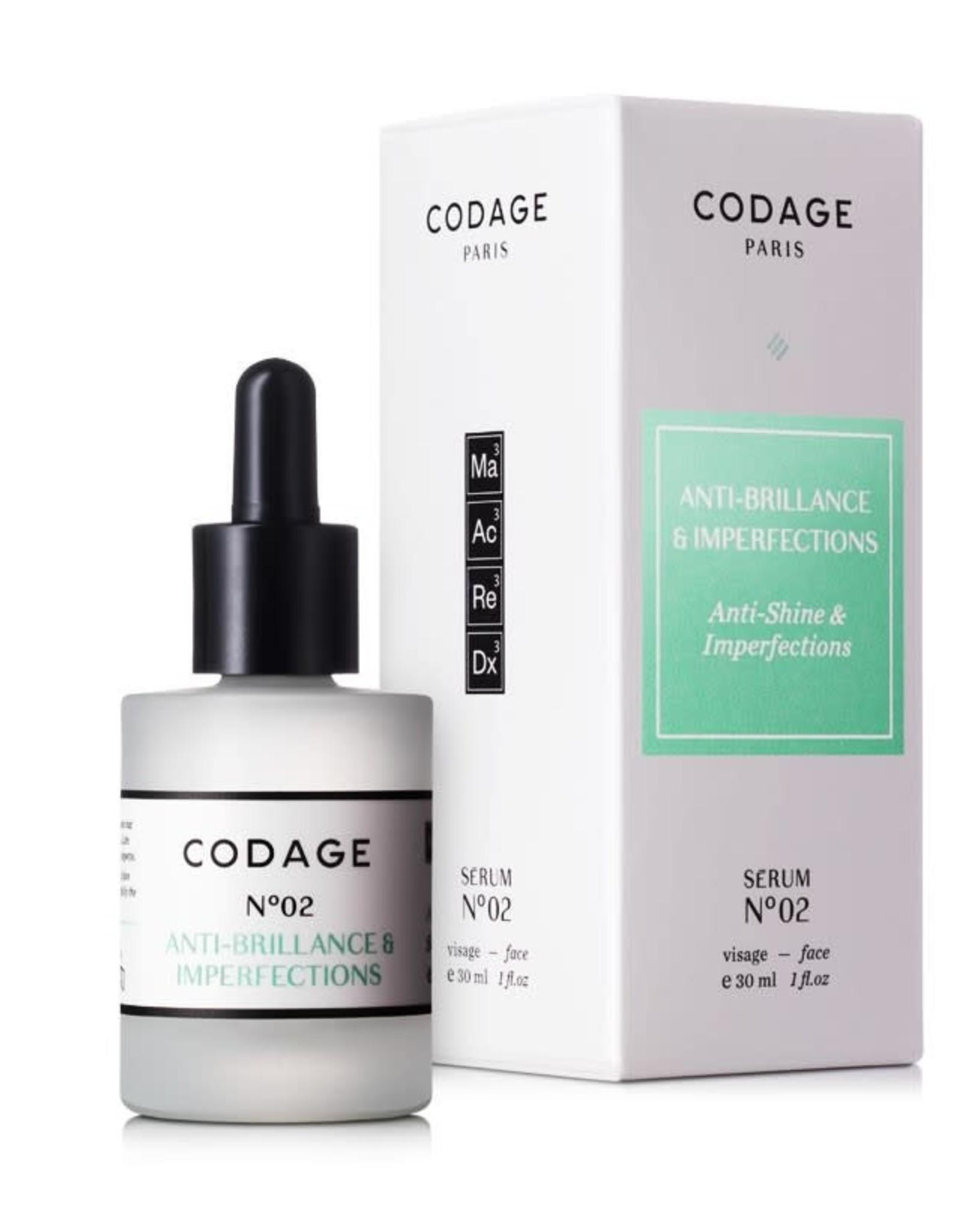 Codage Paris CODAGE PARIS-SERUM N°02   Anti-shine & Imperfections  30ML