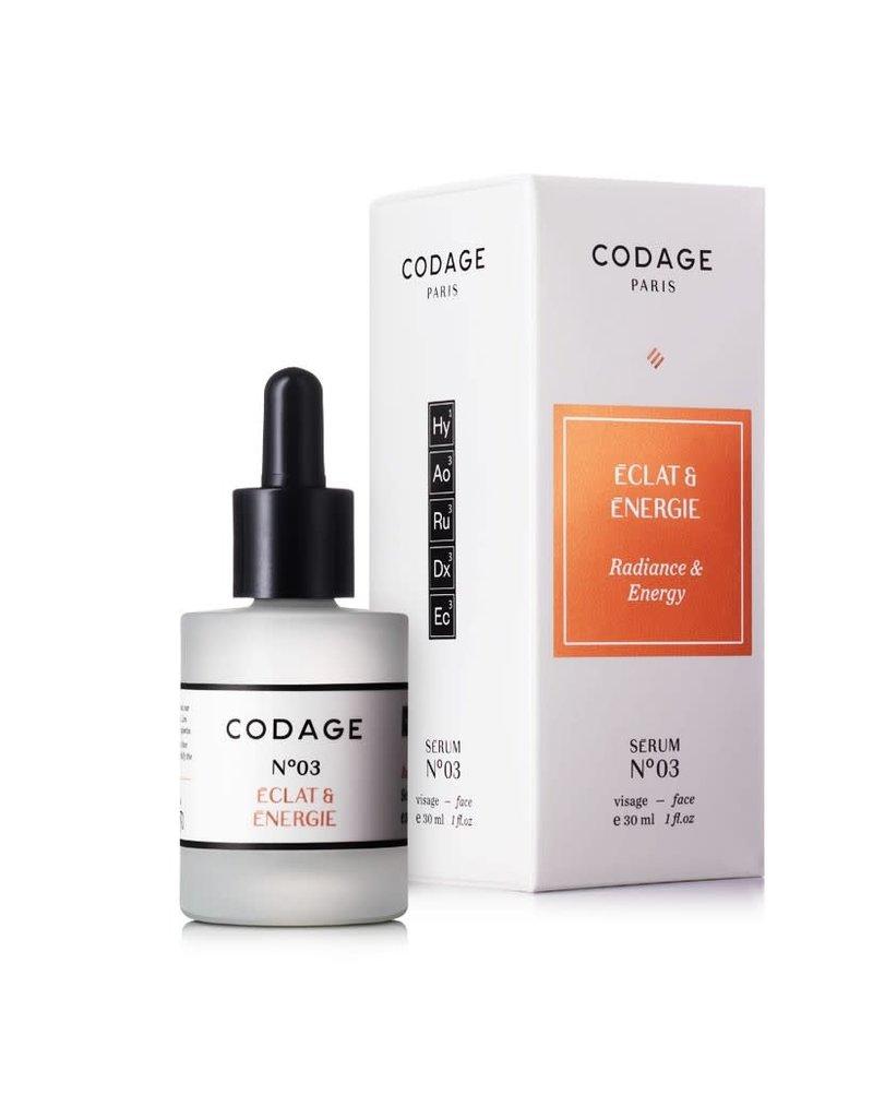 Codage Paris CODAGE PARIS- SERUM N°03  Radiance & Energy  30ML