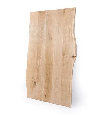 Steiken Geborsteld  Massief Eiken boomstam tafelblad 45mm dik