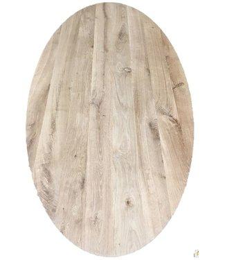 Steiken Ovaal Eiken tafelblad 45mm