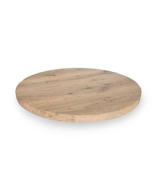 Steiken Eiken tafelblad rond 45mm