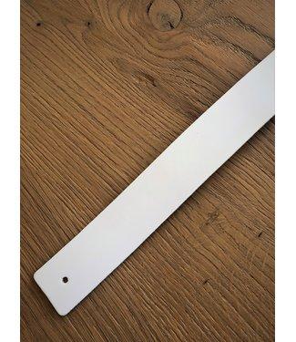 Steiken Witte leren plankdragers - Set van 2