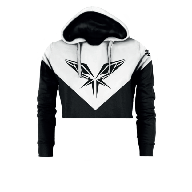 Radical Redemption BLACK / WHITE CROPPED HOODY