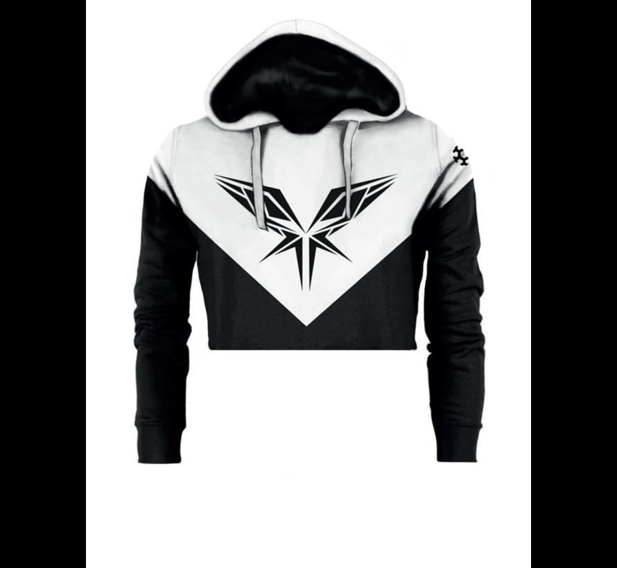 Radical black / white cropped hoody