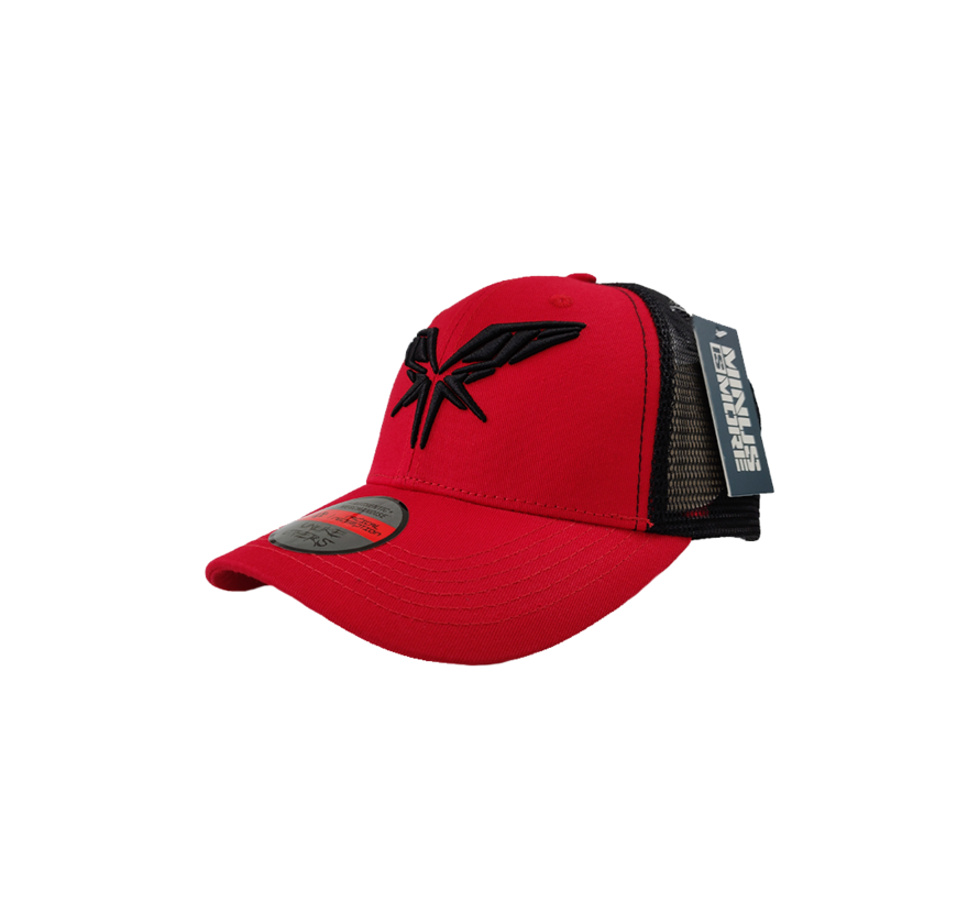 RADICAL BLACK / RED TRUCKERSCAP