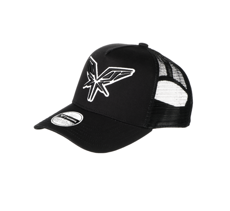 RADICAL TRUCKERSCAP BLACK AND WHITE