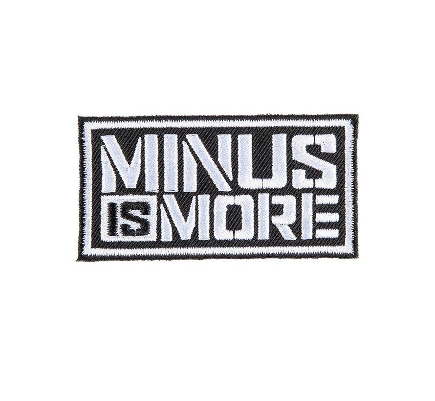 MINUS IS MORE BADGE