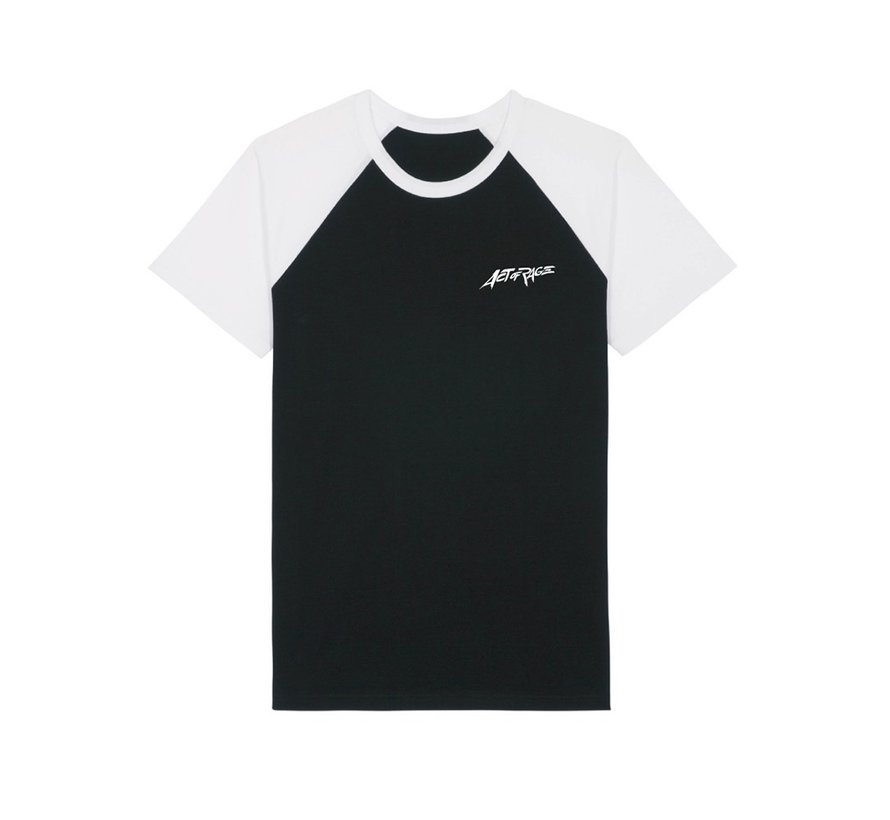 Act of Rage white black shirt