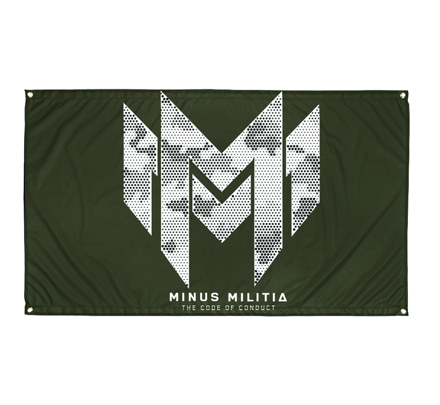 MINUS MILITIA - THE CODE OF CONDUCT FLAG