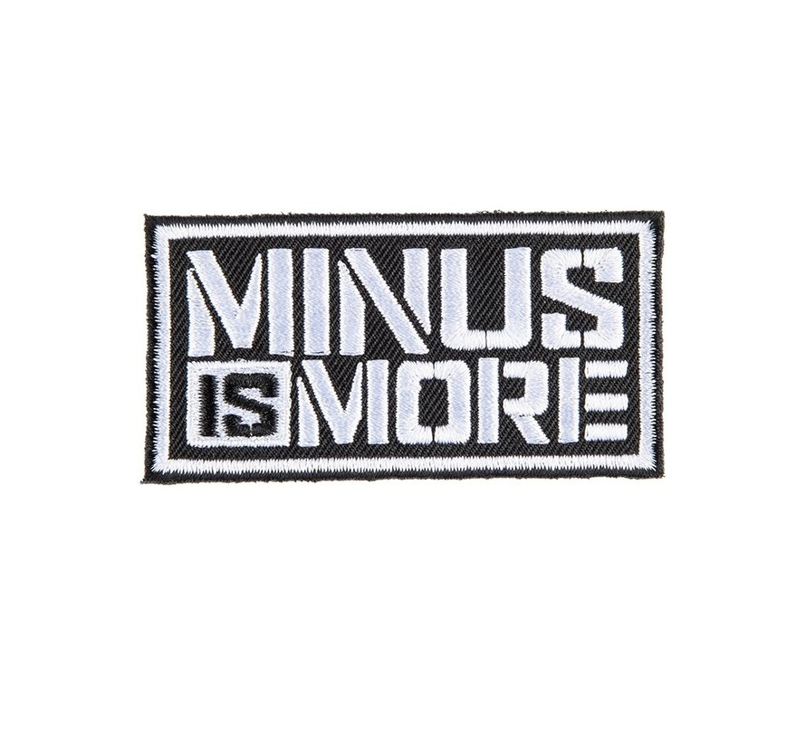 MINUS IS MORE BADGE
