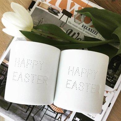 Bloomingville Bloomingville Happy Easter waxinelichthouder