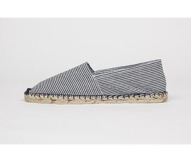Jane and Fred.com Espadrilles stripes blue