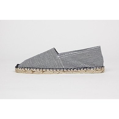 Jane and Fred.com Espadrilles stripes blue and white